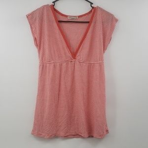 Orange and white stripe forever 21 sz m top